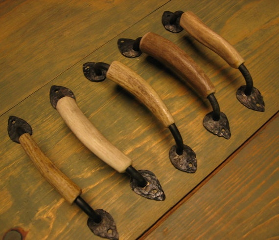 Reserved For Hilarie Set Of 5 Deer Antler Cabinet Handles