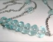 Aqua Blue Sterling Silver Necklace, Aquasphere