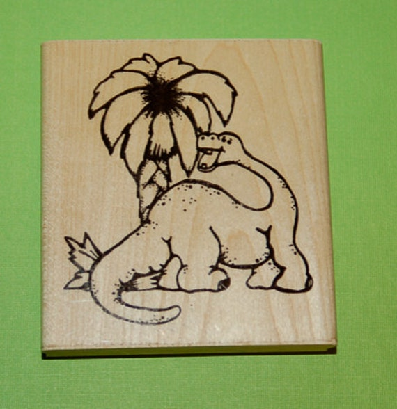 Large Dino Rubber Stamp