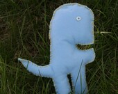 Dino Man - Blue Dinosaur with White Button Eyes