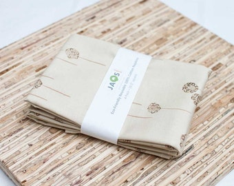 Large Cloth Napkins - Set of 4 - (N247) - Beige Modern Reusable Fabric Napkins