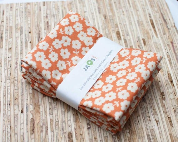 Eco-Friendly Large Cloth Napkins - Set of 4 - (N513)