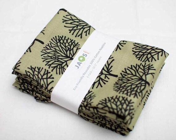 Eco-Friendly Large Cloth Napkins - Set of 4 - (N379)