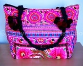 Ethnic Vintage HMONG Tote Bag Handmade by Thai Hill Tribe