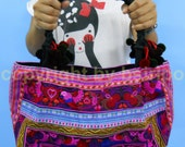 Tote Bag Ethnic Hmong Fabric  Embroidered handbags Chic Vintage Handmade from Thailand