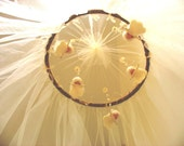 Baby Bed Natural Color Fairies Canopy, Mosquito Net Canopy, Baby Room Decor, Crib Canopy, Baby Shower Gift, Fairies Mobile, Waldorf Doolls,