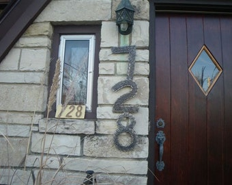 Recycled Chain House Numbers