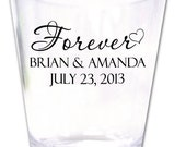 200 Wedding Favors Personalized Shot Glasses New Romantic Custom Designs - Factory21