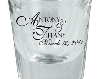 150 Custom Personalized Wedding Favor Glass Shot Glasses
