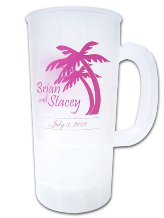 100 Custom Personalized Destination Beach Wedding Favor Steins