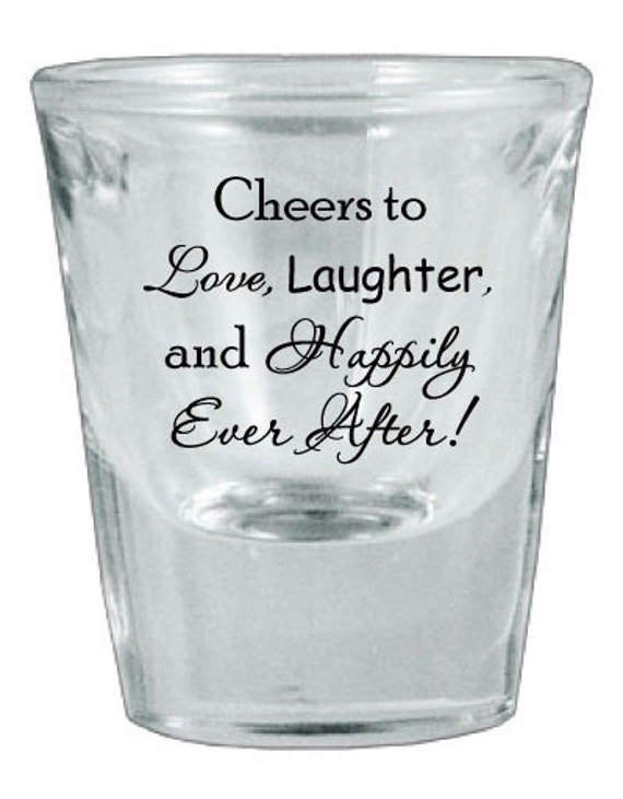 120 Personalized Wedding Favor Glass Shot Glasses NEW Romantic Designs
