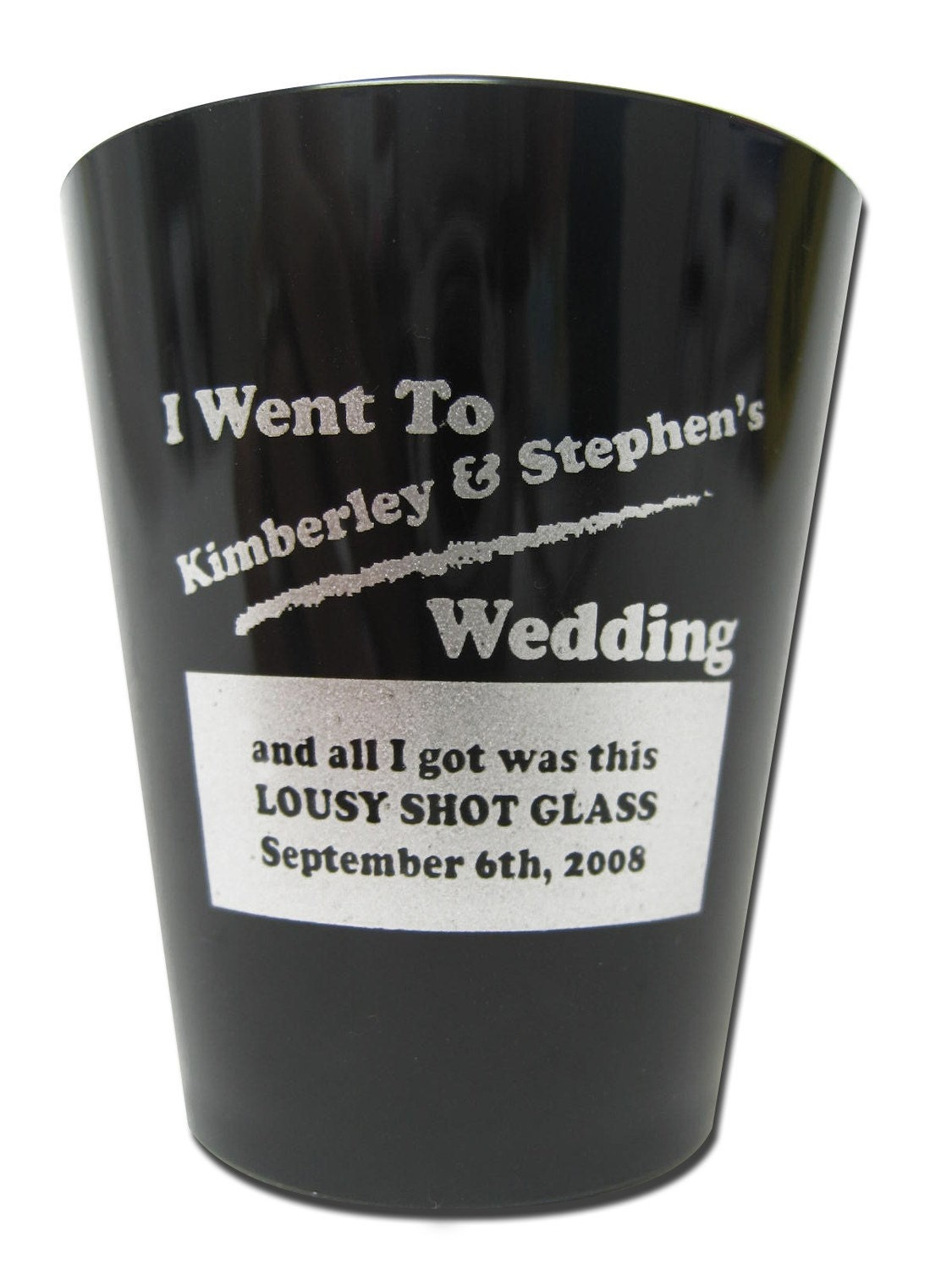lousy shot glass wedding favors 120 personalized custom