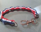 Bike Chain Bracelet USA Patriotic Red, White and Blue - BCUSA