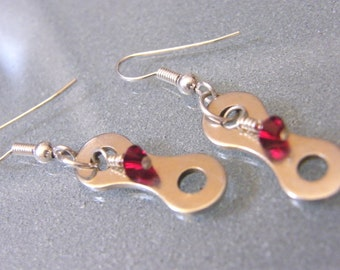 Bike Chainlink Birthstone Earrings - EABIRTH02