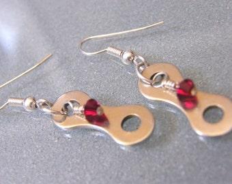 Bike Chainlink Birthstone Earrings - EABIRTH02