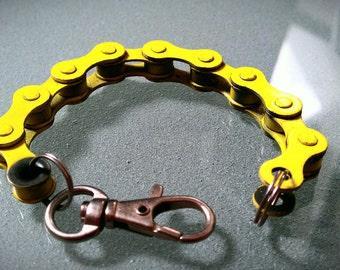 Yellow Bike Chain Bracelet - BCYELL