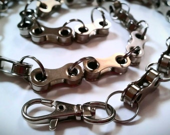 "Bicycle Chain Link Belt Necklace, 19"" to 24"" - UNBKLK02"