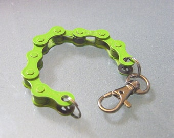 Lime Green Bicycle Chain Bracelet - BCGREN