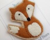 Reserved for Allison Wilson x2 Cute Felt Fox Brooch