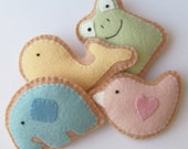 Felt Animal Crackers/Cookies Playset