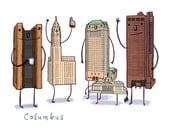 Columbus, OH skyline print- Coffee With Columbus