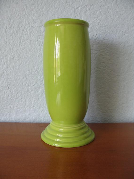 SALE Fiesta Ware Vase in Retired Chartreuse