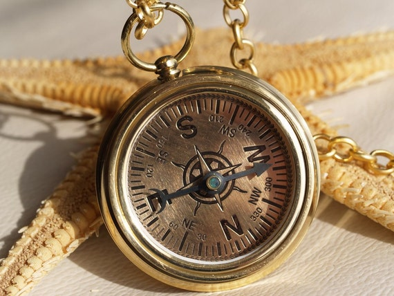 52 mm Big compass and clinometer Necklace