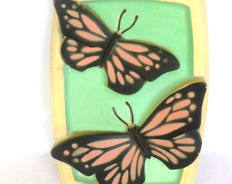 MID CENTURY BUTTERFLY Chalk Plaque