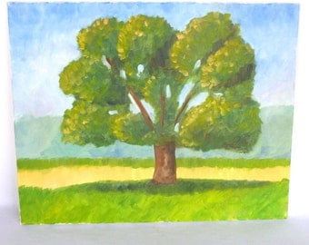 Original IMPRESSIONISTIC TREE PAINTING