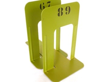 Acid GREEN INDUSTRIAL Chic BOOKENDS