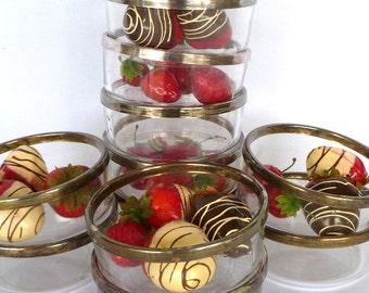 VINTAGE GLASS BOWLS/set of 11