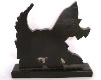 VINTAGE Handmade Wood SCOTTIE DOG