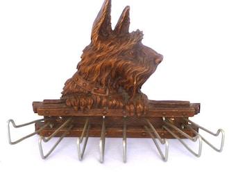 Vintage SCOTTIE  dog NECKTIE HOLDER