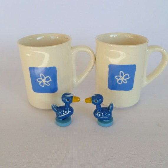 reserved for nikkystyx/Vintage Romanian FLOWER POWER MUGS