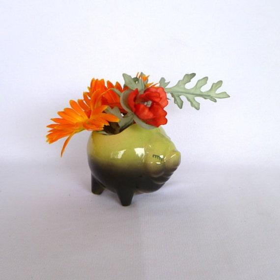 VINTAGE SHAWNEE PIG Planter