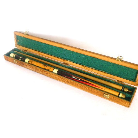 Very Rare Vintage Pool Cue With Case