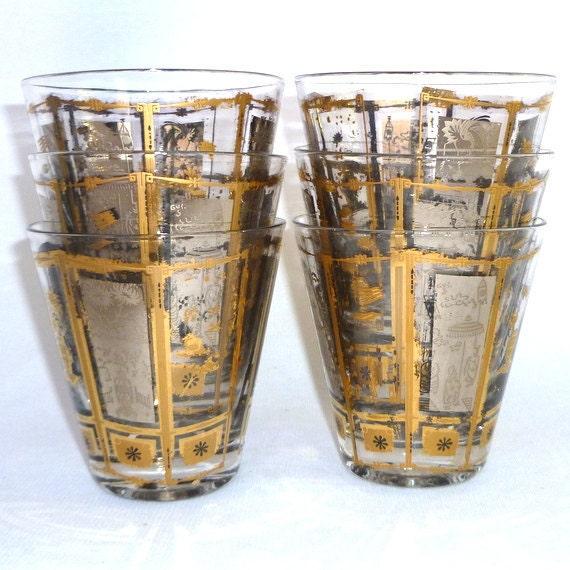 items similar to atomic barware mid century tumblers on etsy