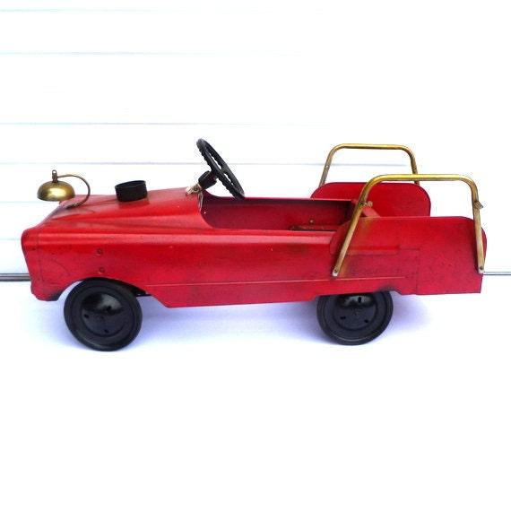 vintage pedal car fire engine