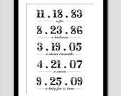 Your Story -- Dates art print PRINTABLE
