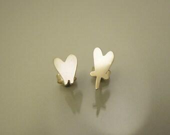 Love earrings silver / boucles d'oreille Love