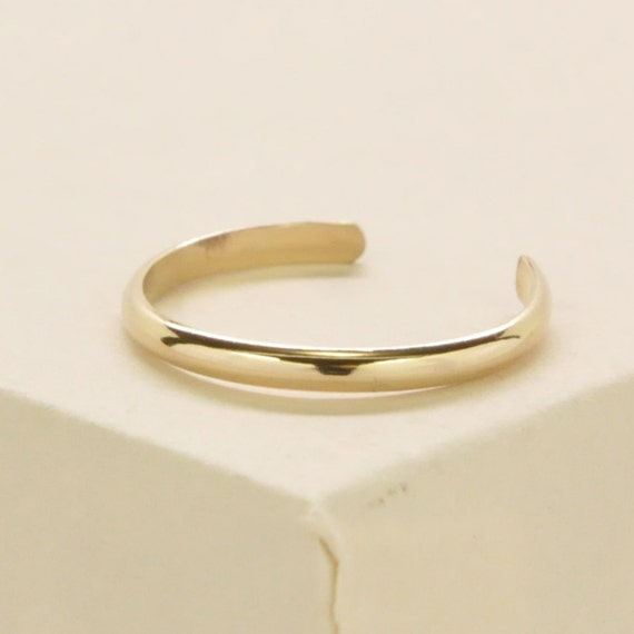 Gold Toe Ring, 14K Yellow Gold fill, Adjustable, Half Round, Simple, Everyday, Kristin Noel Designs