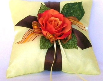 50% OFF, Last One, Here Comes The Autumn Bride Ring Bearer Pillow