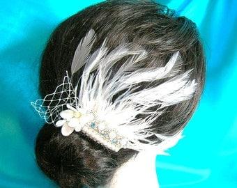 Something Blue Bridal Hair Fascinator