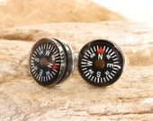 Compass Cufflinks Mini GPS Navigators for Your Wrist Gift for DAD