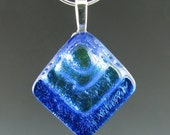 Royal Blue Pyramid Pendant
