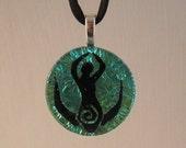 Sparkly Green Moon Goddess