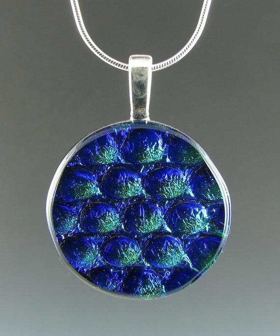 Dichroic Blue & Green Bubbles Pendant