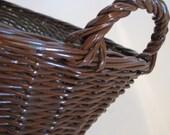 Vintage Wicker Brown Basket