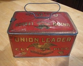 Antique Union Leader Cut Plug Tobacco Tin