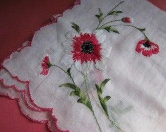 SALE: WAS 10.00 NOW 5.00 - Vintage Madeira Linen Handkerchief